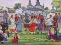 Іван Гончар. Гаївки біля церкви