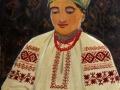 Іван Гончар. Молодиця-вишивальниця