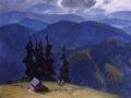 Веніамін Кушнір. Хмарний день. Чорногора