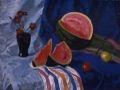 Веніамін Кушнір. Натюрморт з кавуном